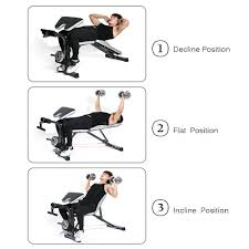 tomshoo weight bench exercise barbell squat rack home gym workout
