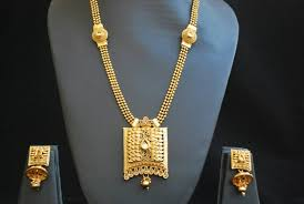 gold tone necklace set images Buy gold tone long haram style necklace set online JPG