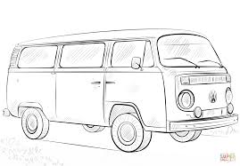 volkswagen old van drawing vw bus coloring page free printable coloring pages
