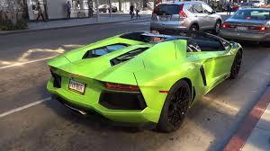 neon green lamborghini aventador lamborghini aventador roadster in beverly