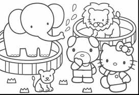 impressive kitty printable coloring pages carnival
