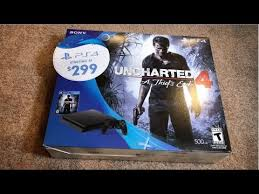 ps4 slim black friday bundle amazon play station 4 ps4 bundle unboxing uncharted 4 edition
