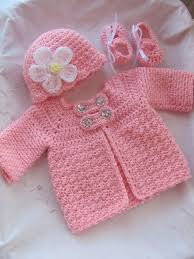 3 baby crochet sweater jacket hat and by stonehousegals