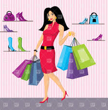 beautiful with paper shopping bags in shoes shop vector image