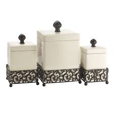black ceramic kitchen canisters danbury square canister set of 3 at home at home