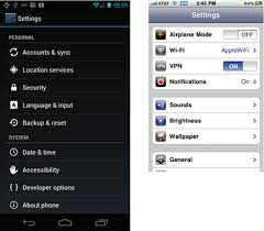 settings for android android android developers