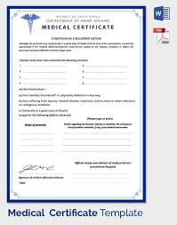 medical certificate template 33 free word pdf documents