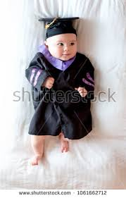 baby graduation cap and gown baby girl graduation cap gown stock photo 1061662712