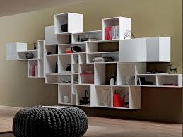 Modern Bookcases With Doors Decorating Contemporary Bookcase With Doors Low Wooden Bookshelf