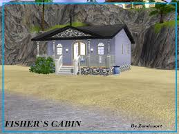 mod the sims fisher s cabin small beach cabin