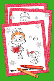 bubble guppies color pages bubble guppies holiday coloring pack nickelodeon parents