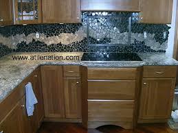 Kitchen Remodel Denver CoTile InstallersKitchen Design Company - Rock backsplash