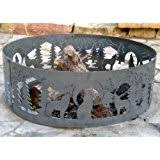 48 Inch Fire Pit by Amazon Com Fire Ring Fire Pit Pd Metal Cfr00948 Cattail Fire