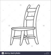 hand drawn sketch of chair isolated black and white cartoon