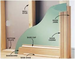 trim baseboard to transition baseboards across different floor levels