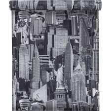 leroy merlin peinture chambre papier peint sur papier inspire new york gris larg 0 53 m
