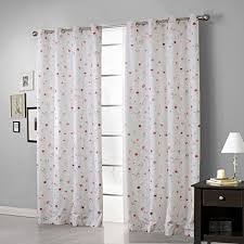 Grommet Top Blackout Curtains Iyuego Simple Graffiti Style Floral Grommet Top Lined Blackout