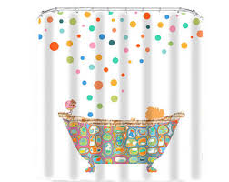 Kids Bathroom Shower Curtain Kids Shower Curtain Bathroom Decor Shower Curtains Child Shower