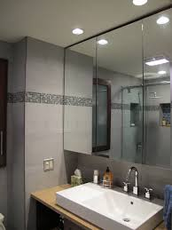 home decor bathroom mirror cabinet with light modern bathroom