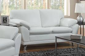 White Leather Sofa Set Robyn White Leather Loveseat Steal A Sofa Furniture Outlet Los