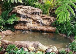 Fake Rocks For Landscaping by Large Backyard Landscape Pond Waterfall Kits U0026 Fake Rocks