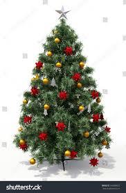 tree decorations on light background stock illustration