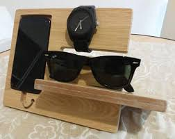 decorative charging station charging station men docking station wooden phone dock