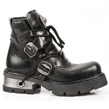 short black motorcycle boots m 988 s1 short lace up new rock m3 ankle boots metallic