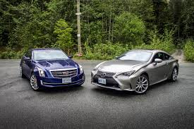lexus rc 300 vs rc 350 comparison test 2015 cadillac ats coupe vs 2015 lexus rc 350