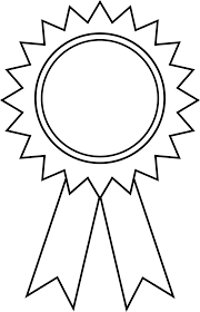 coloring page prize ribbon kids drawing and coloring pages