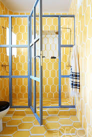 tile creative yellow tile bathroom paint colors decor idea