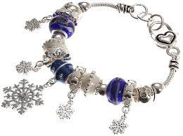 beads charm bracelet images Lova jewelry quot christmas snowfall quot murano glass beaded jpg