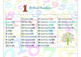 21 free esl ordinal numbers cardinal numbers worksheets