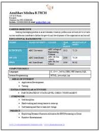 Software Engineer Fresher Resume Sample Best Fresher Computer Science Student Resume Sample Sachin