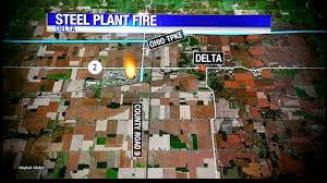 Delta Interactive Route Map by Explosion Reported At North Star Steel Plant In Delta