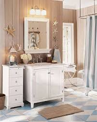 beach themed bathroom paint colors white gloos tile flooring white