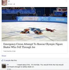 Figure Skating Memes - emergency crews attempt to rescue olympic figure skater who fell