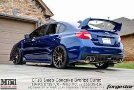 modded subaru impreza quick snap 2015 sti on forgestar cf10 wheels