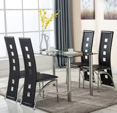 black dining room table with leaf dining room chairs houses hack build simple leaves glass leg metal