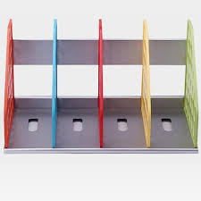 Desk Organizer Shelf New Diy Plastic Bookend Office File Document Tray Holder
