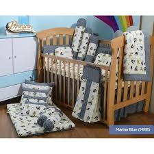 Premium Bedding Sets Babylove Premium 7 In 1 Bedding Set Marina Blue