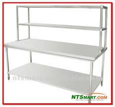 stainless steel table with shelves stainless steel work table with top shelf stainless steel work