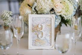 themed table numbers map table number pauleenanne design