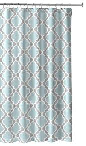 Gray Fabric Shower Curtain Light Aqua Gray White Embossed Fabric Shower Curtain Moroccan