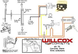 1969 1970 corvette corvette wire schematic alarm system willcox