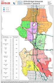 seattle map by district seattle high school boundary options narrowed to two city