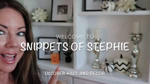 october decor and home goods haul vlog style youtube