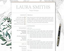 pages resume templates mac resume template mac etsy