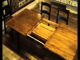 Farmhouse Dining Table With Leaf Reclaimed Wood Farmhouse Table With Butterfly Leaf Demo
