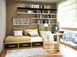 Bed On The Floor by Modern Study Room Presenting Black Glossy Desk And Black Stool